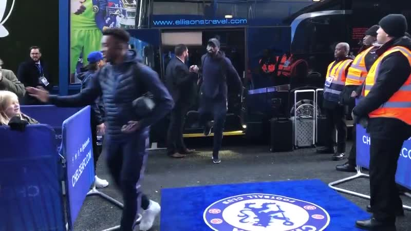 Straight off the bus, here come the Blues! CHEBOU