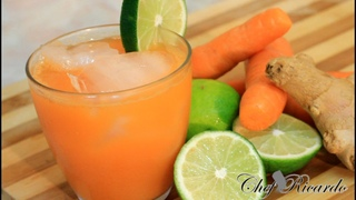 Jamaican Natural Carrot Juice With Ginger And Lime 2015 Recipes   Recipes By Chef Ricardo