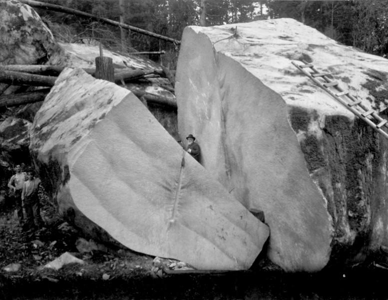 Расколотые камни, мегалиты