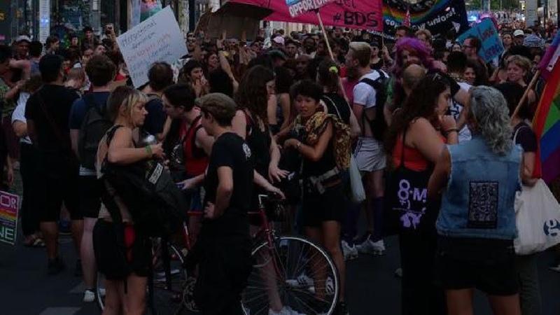 Протест активистов в Берлине из за выселения из здания Liebig34 LIVE 09 10 20