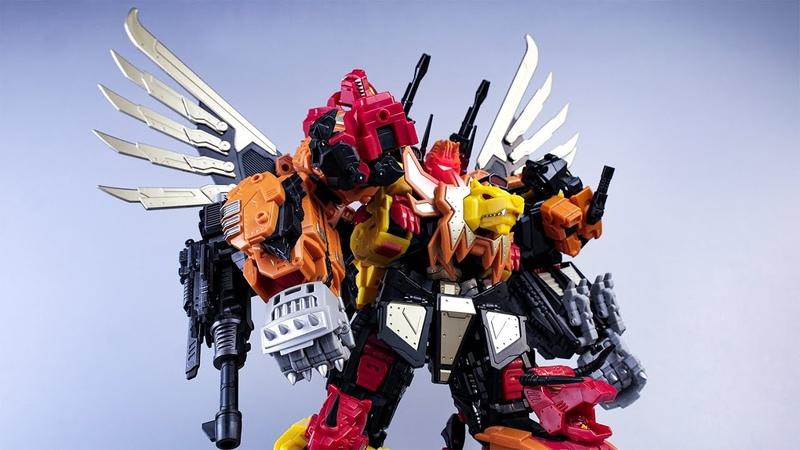 Transformers Stop Motion:Most Powerful Combiners MMC Predaking By Mangmotion变形金刚定格动画:最强合体金刚冲云霄