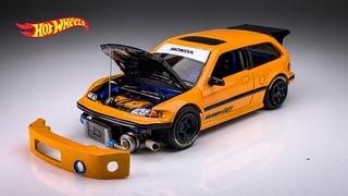 Honda Civic EF Drag FWD FF Hot Wheels Custom