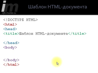 Обязательные теги HTML