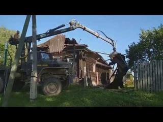 Ломать не строить. Снос деревянного дома за 6 часов.