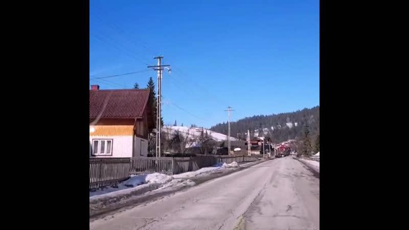 Топовое Румынское село в горах Буковина