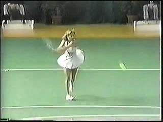 Chrissie Evert in the mid-70s vs. Wade/Court/Goolagong