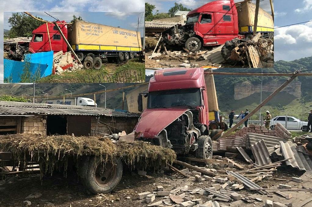 Неуправляемый грузовик чудом не угробил людей в КЧР