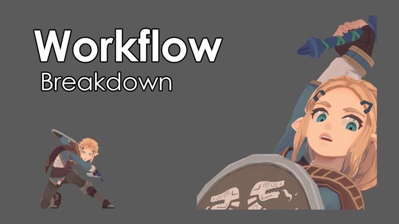 Workflow Breakdown - Attack Animation (Zelda)