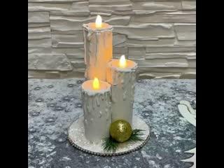 Создаем новогодние свечи