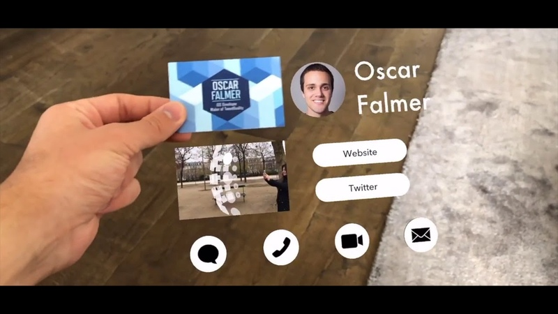 Business card AR Визитка с дополненной реальностью