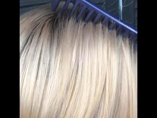 Perl blond on a MATRIX. Hairdresser: Tanya Bronnikova