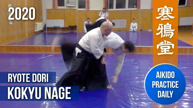 Ryote Dori Kokyu Nage Aikido practice daily