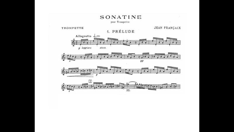 Jean Francaix Sonatine Eric Aubier trumpet I