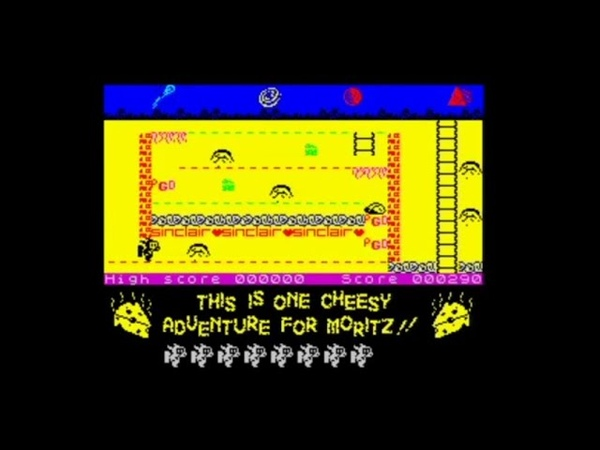 Cheesy Chase Moritz and the Mildewed Moon 128k 2019 Walkthrough Review ZX Spectrum