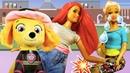 Видео про куклы. Барби поранила ногу! Доктор Игрушек вылучит Щенячий патруль и игры в больницу