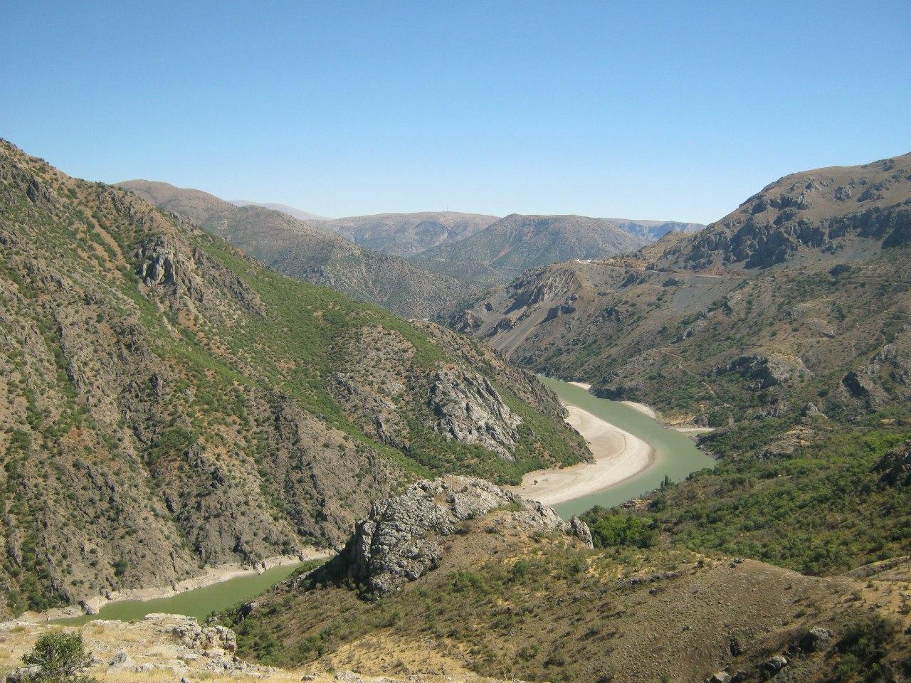 Красивая панорама турецких дорог