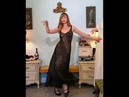 Dainty Rascal Dancing in Sexy Sheer Vintage Pinup Girl Nightgown