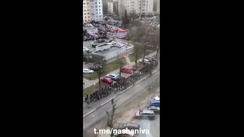 Военная Хроника в центре Минска фашисты готовятся к захвату двора