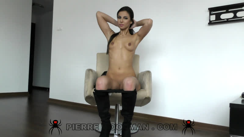 Caprice In Very Sexy Black And Red Lingerie Stockings Woodman Casting X 1