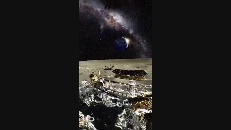 Взгляд на Землю и Млечный путь с Луны.mp4
