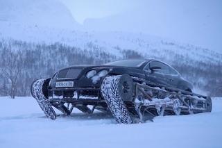 Блогер из Петербурга гоняет на гусеничном Bentley.