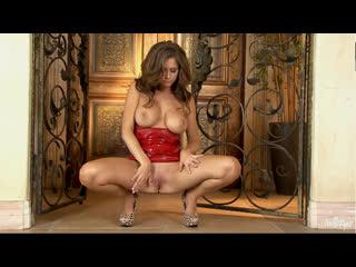 Emily addison red latex dress self pleasure [big tits, blonde, high heels, orgasm, masturbation, solo, toy, 1080p]