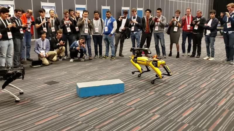 Boston Dynamics Spot, UC Berkely Salto and Ghost Robotics Vision 360 at ICRA 2019