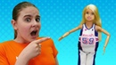 Барби и фитнес - Сможет ли кукла быстро похудеть Видео для девочек про жизнь Барби и других кукол