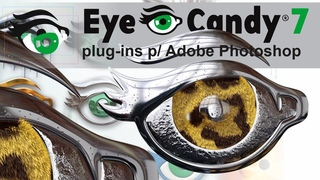 Eye Candy is a Photoshop plug in for rendering smoke, fire, chrome, and glass for logos and other de