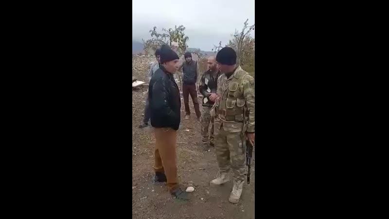 Азербайджанский солдаты дали время армянам свалить нах й