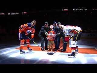 Oilers surprise military family jan 29, 2020