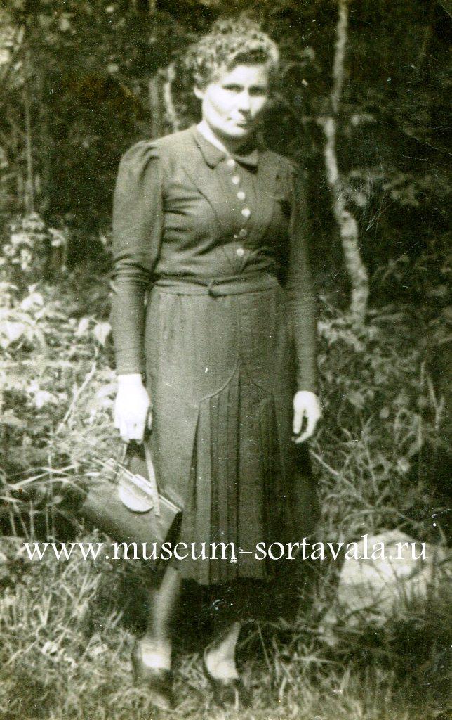 Анна Петровна Фомина. г. Сортавала, 1948 г. Из фондов РМСП