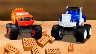Destruíram a fazenda brincando de pega-pega! História infantil com carros de corrida em português