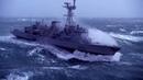 Корабль попал в океанский шторм. Поэтому морякам так хорошо платят. Big ocean storm, 灾难海洋风暴