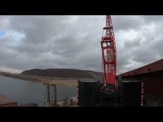 Новый этап строительства моста через р. Сок