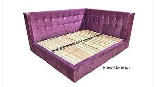 Угловая кровать с боковыми вставками на заказ