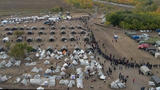 Палаточный лагерь в поле под Кинелем : отправка мигрантов на родину