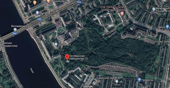 Современный снимок усадьбы Чернова (Сосновка)