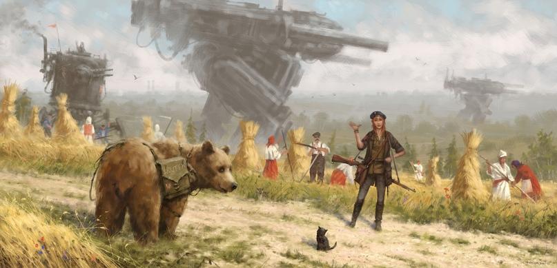 Анна Косс и ее верный помощник Медведь — Войтек.