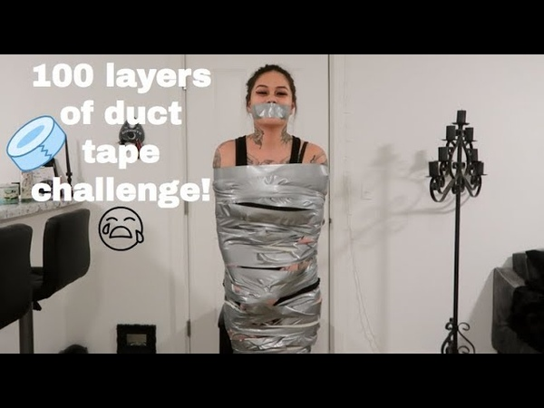 100 LAYERS OF DUCT TAPE CHALLENGE PAINFUL