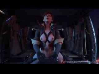 Tracer cockriding Reaper in the chopper v.3 | Overwatch 3d hentai pron
