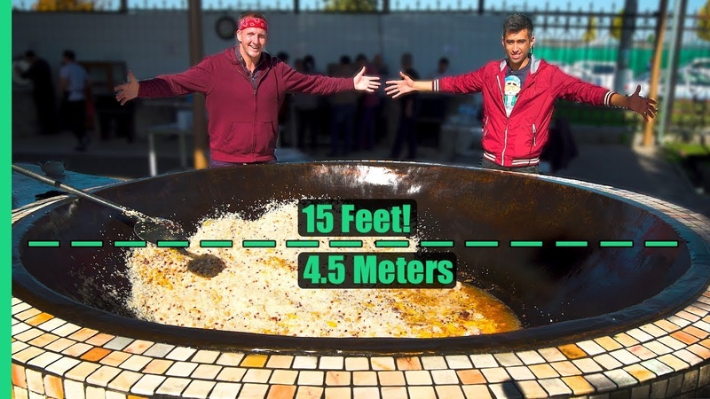 Asia's Biggest Frying Pan Over 3 000 POUNDS of Rice and Meat Cooked Each Day