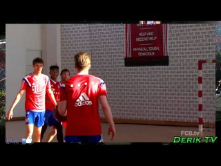 ФК Бавария Мюнхен играет в баскетболFC Bayern Munich plays basketball