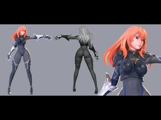 Blender - Ninja Girl Modeling
