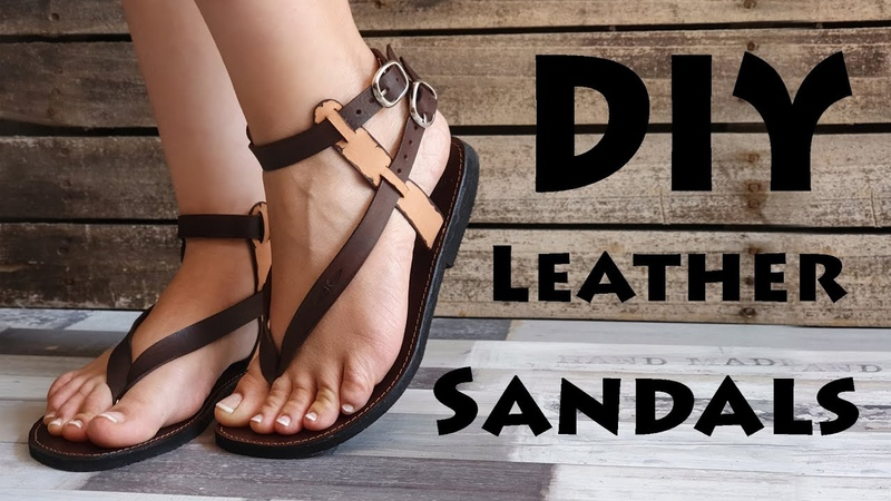 DIY Leather sandals How to copy the pattern of your leather sandals PDF Pattern