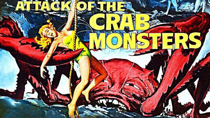 Attack of the Crab Monsters 1957 Full Horror Sci Fi Movie