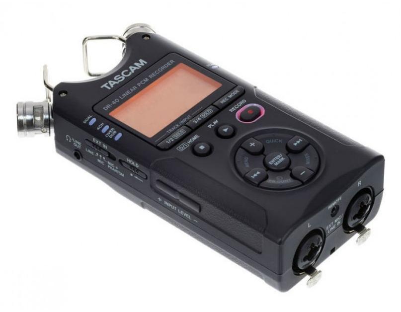 Запись звука при репортажной видеосъемке: рекордер Tascam Dr 40