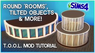 Round 'Rooms' & More: Sims 4 . Mod Tutorial | Kate Emerald