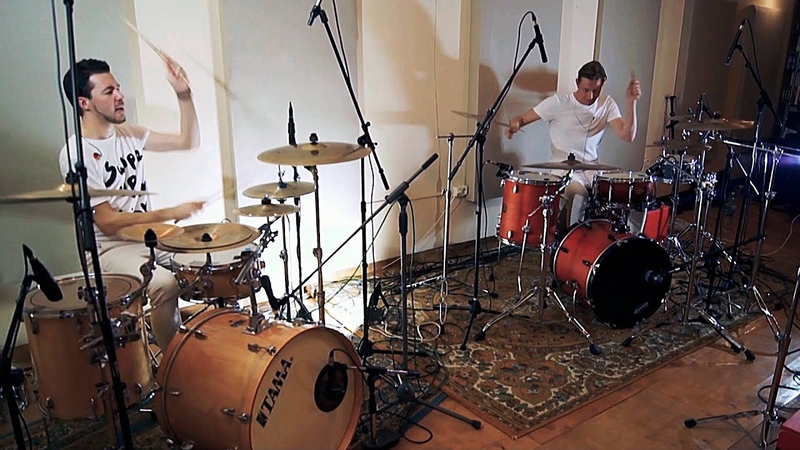 Kaz Rodriguez - RAGGA drum duet by StasON NickNick (2 drummers playing)