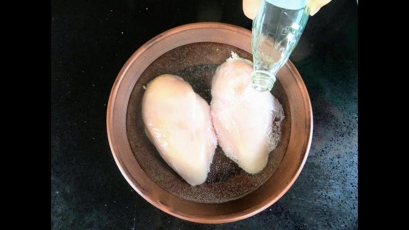 Секрет в минералке Нежнейшая куриная грудка в очень вкусном кляре